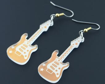 Rockin' Supertash Iridescent Electric Guitar Earrings