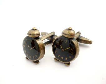 Steampunk Shirt cufflinks_NA6452008447/00512_ Gifts for men_Steampunk_ Black watch