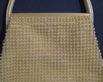 Lucite Beaded Bag with Marching Handles - Very Sweet