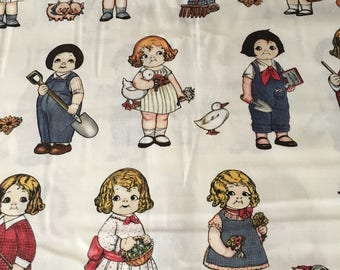"""Paper Dolls Farm - 3"""" Dolls by Myletex Fabrics Pat# 896"""