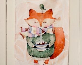 Hot Chocolate (Tea Towel) by Kate_Rina