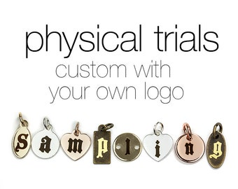 Sample of Custom Laser Engraved Jewelry Tags, Discountable in Formal Order, Physical or Photo Trials, Logo Supported