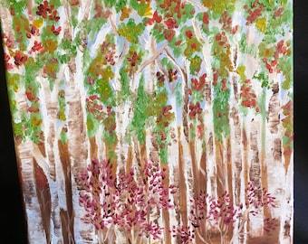 Trees Acrylic Painting