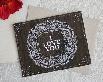 Bohemian I Love You - Valentine Card