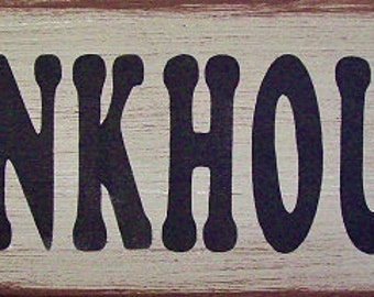 Bunkhouse Primitive Rustic Distressed Country Wood Sign Home Decor