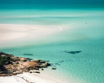 Whitehaven beach, Whitsundays island, medium format 120 film photography fine art print.