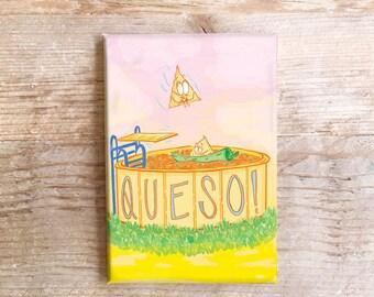 Queso Küche Magnet Spaß Kühlschrank Texas Süden Chips und Queso Thema Kühlschrank lustige Lebensmittel