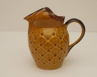 Vintage french Majolica Bee Jug, Country Provincial Wine Water Pitcher, Retro Kitchen Circa 1960s