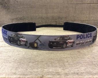 Police Nonslip Headband, Noslip Headband, Sports Headband, Running Headband, Athletic Headband