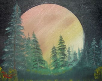 Oil Painting No: 009-Full Moon