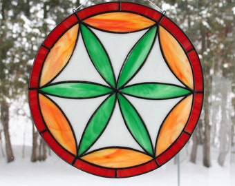 Stained Glass Hex Sign #2