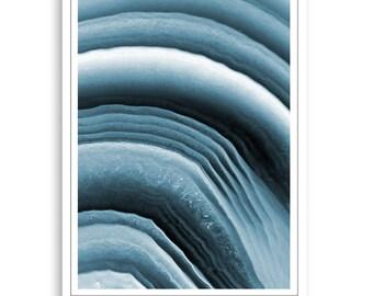 Blue agate print, Blue agate,Agate Print,Agate downloadable Print,Agate wall art, Abstract Print,Modern Minimalist Art,Mineral Photography
