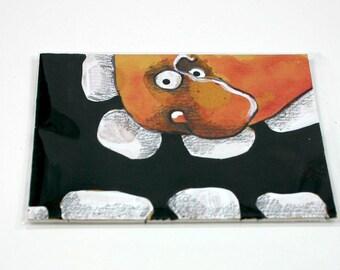 Yellow Monster original outsider art folk art