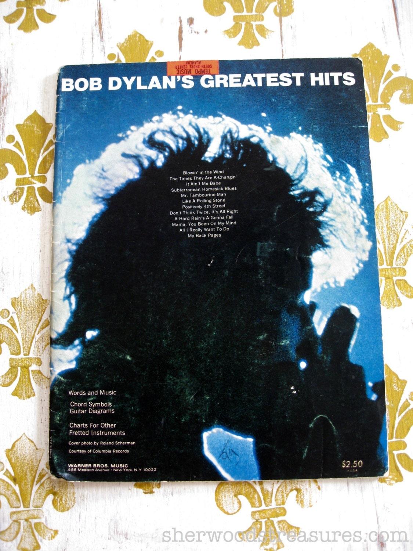 Original Bob Dylan Guitar Songbook Bob Dylans Greatest