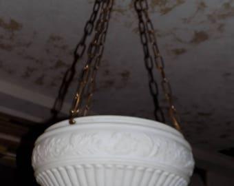 Milk  glass chandelier