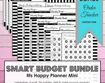 Mambi Create 365 Printable inserts for the Mini Happy Planner Budget Planner with 26 pages of essential inserts for smart finance planning.