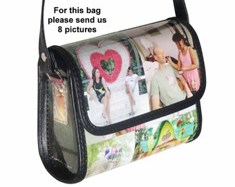 Personalized crossbody bag SMALL size with pictures from you - FREE SHIPPING - gift gifts for mom girlfriend custom customized bag handbag
