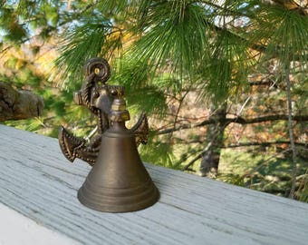 Solid Brass Anchor Bell Nautical Home Decor