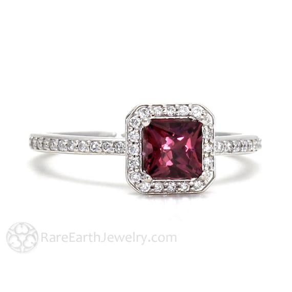 Raspberry Rhodolite Garnet Ring