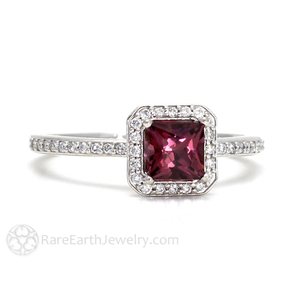 gold prodetail garnet yellow rhodolite ring diamond halo with in carat rings