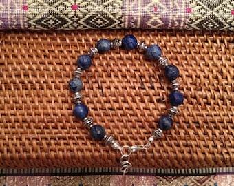 Amira silver Sterling bracelet and lapis lazuli