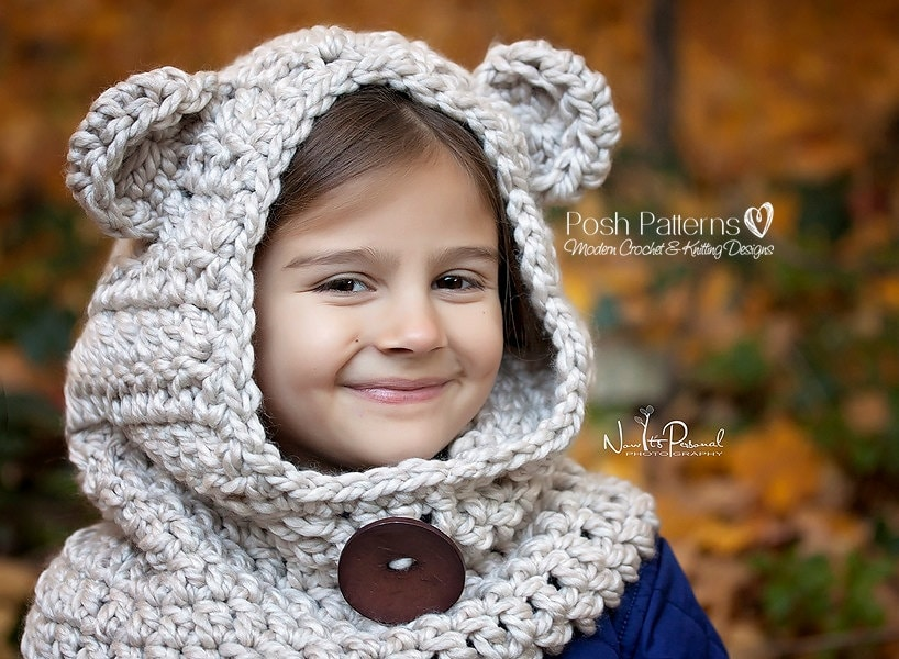 Crochet Pattern Hooded Cowl Pattern Crochet Hood Crochet