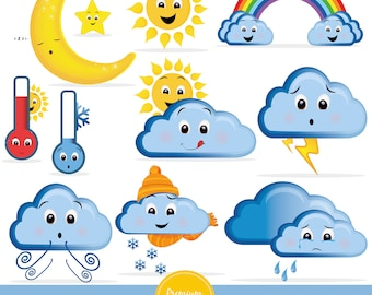 weather clipart etsy rh etsy com weather clip art for preschool weather clip art for preschool