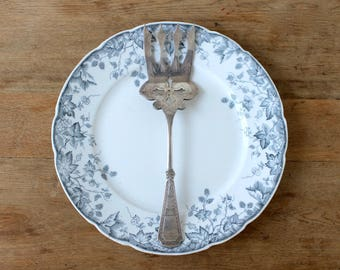 """Aesthetic Movement Silver Fork, Wm Rogers """"Countess"""" Pattern, Silver Serving Fork, Vintage Silverware, Victorian Meat Fork, Art Nouveau"""