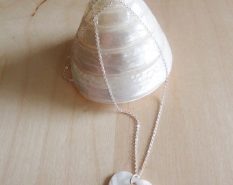 Silver plated necklace with heart Pearl