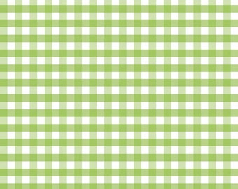 Green Fabric by the Yard - Fat Quarter Bundle - Quilt Fabric - Gingham Fabric - Green Gingham - Riley Blake Designs - Medium Gingham Green