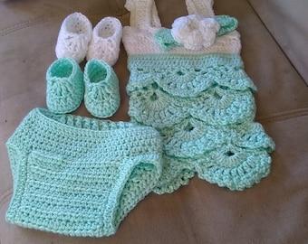 Baby girls dress/ shirt set