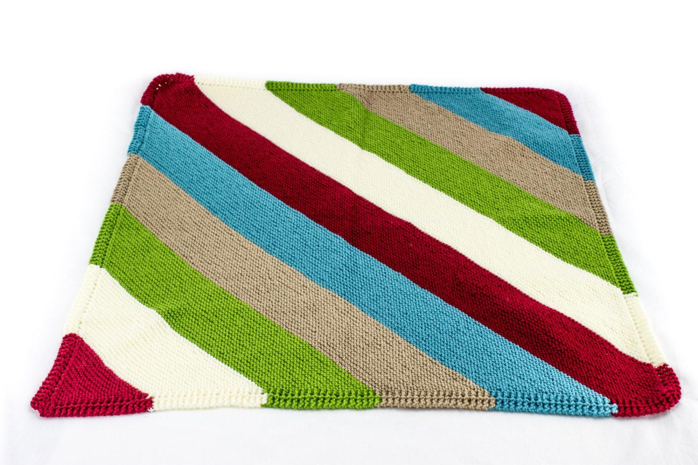 KNITTING PATTERN , Baby Blanket , Reversible Knit Baby Blanket ...