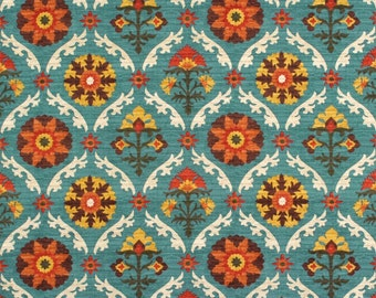 Waverly Medallion Suzanni Fabric by the yard multi colour fabric home decor fabric clearnce medallion