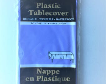 Large solid plastic tablecloth