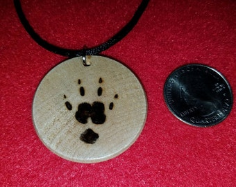 Guinea Pig Paw Print Necklace
