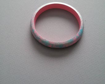 Pink Bangle / Wood Bangle / Colorful / Bangles