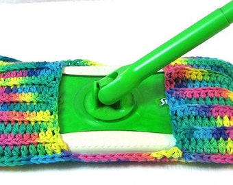 Swiffer Mop Cover, Spring Cleaning, Housewares, Duster, Cleaning Supplies, London,Ontario,Eco Friendly, Zero Waste, Psychedelic