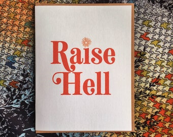 Raise Hell- Card
