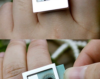 Last- 50% off - 2pcs Nickel Free - High Quality Polaroid Picture Ring (ZJ142) --Clearance Sale