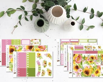 Fairy Floss Floral || Weekly Planner Kit (6 Stickers Sheets) || Erin Condren, Happy Planner, Recollections || SeattleKangarooPlans