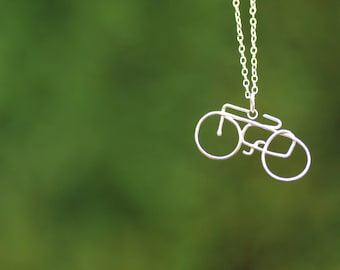 Silver bicycle pendant