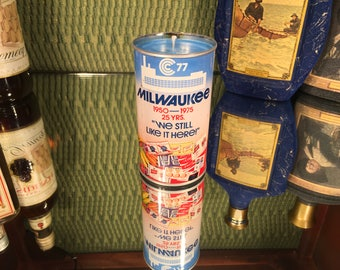 Vintage Milwaukee Beer Can Candle, Soy Amber and Caramel scent