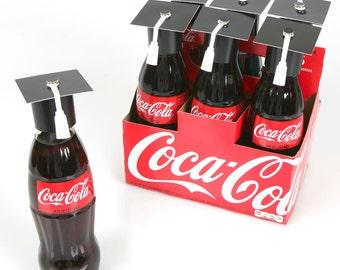 DIY Graduation Cap Bottle Toppers - Hat Shaped Party Decorations - 12 Ct