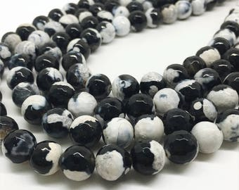 10mm Faceted Agate Beads, Round Gemstone Beads
