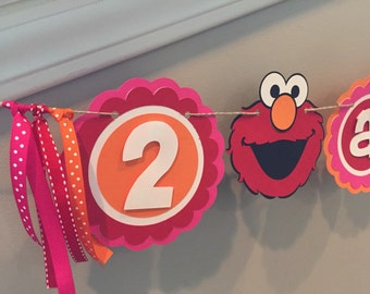 Elmo/Sesame Street Birthday Banner