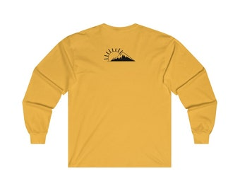 Off The Fence Mountain Sunset  Long Sleeve Tee