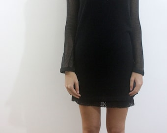 Mesh knitted dress