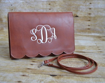 Monogram Scallop Purse and Clutch