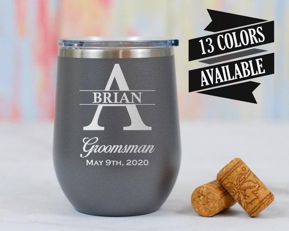 Personalized Groomsmen Wine Tumblers