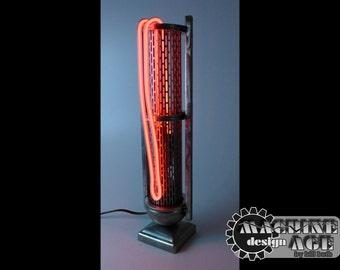 Industrial Handmade Steel NEON Steampunk Art Lamp SALE!!!